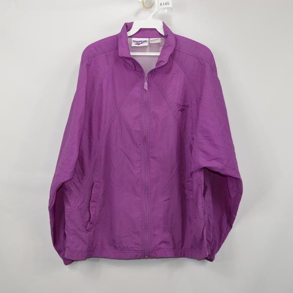 239e2df3d8cab Vintage 90s REEBOK Mens Medium Spell Out Jacket